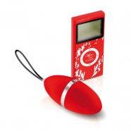 Plaisirs Secrets - rádiós vibrációs tojás (piros)