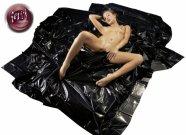Fényes lepedő - fekete (200 x 230cm)