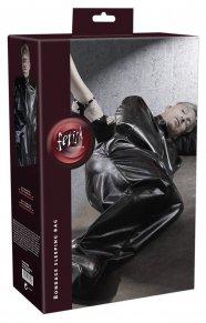 Fetish - cipzáros műbőr búslakodó (fekete)
