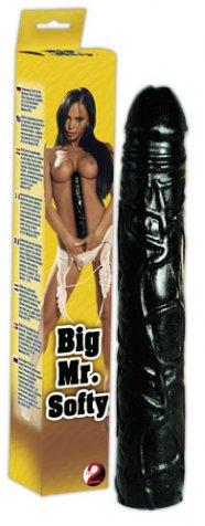 Big Mr. Softy - fekete csődör dildó