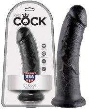 King Cock 8 dildó (20 cm) - fekete
