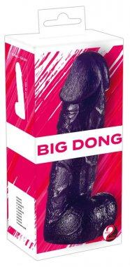 You2Toys Big Dong - felállítható, herés dildó (19,5cm) - lila