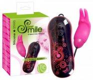 SMILE Funky Rabbit - szilikon vibrációs tojás (fekete-pink)
