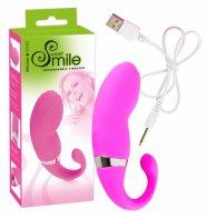 SMILE - Akkus vibrotojás farkincával (pink)