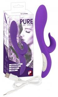 Pure Lilac - akkus csiklókaros vibrátor (lila)