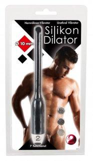 DILATOR - szilikon húgycsővibrátor - fekete (10mm)