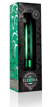 Electra - mini rúdvibrátor (10 ritmusú) - zöld