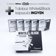 White & Black - erős, étrend-kiegészítő kapszula csomag férfiaknak (5 x 4db) + 4db