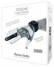 Adrien Lastic Touché - akkus ujjvibrátor csuklópánttal (fekete)
