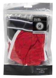 MrB Urban - Push-up-os mintás pamut alsónadrág (fekete-piros)
