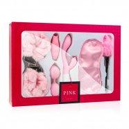 Loveboxxx I love Pink - vibrátoros kötöző szett (6 részes) - pink