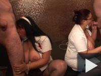 Privát Gang-Bang Party: Nagymellű nővérkék akcióban