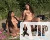 Nudi család a tónál