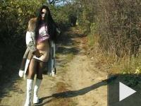 Erika szabadtéri szexel